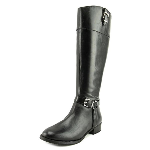 inc Womens fedee Leather Almond Toe Knee High Fashion Boots