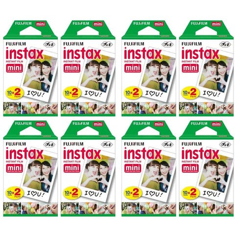 Fujifilm Instax Mini Instant Film (8 Twin Packs, 160 Total) for Instax