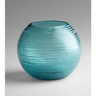 "Cyan Design 4360 5"" Small Round Libra Vase - aqua"