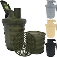 Grenade 20 oz. Shaker Blender Mixer Bottle with 600ml Protein Cup Compartment - 20 oz.