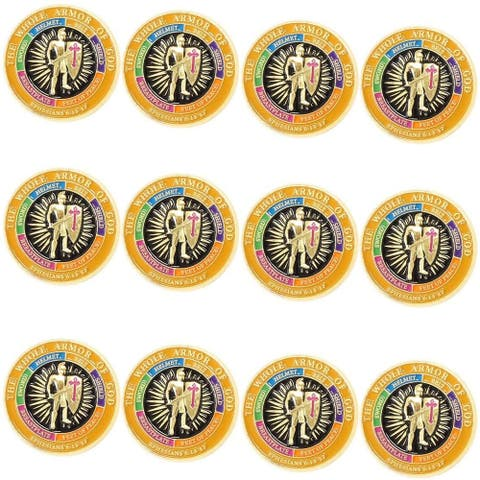 """12 Pack Armor of God Lapel Pins Great Accessories for US Armed Forces , 1 x 1"""""""