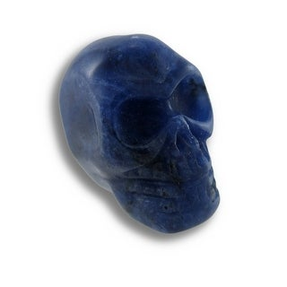 Beautiful Carved Sodalite Gemstone Skull 25mm 1 Inch