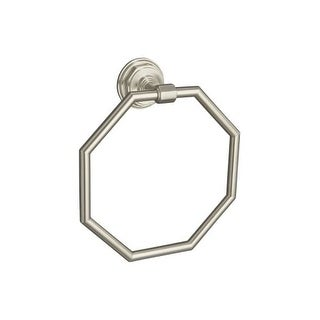 Kohler K-13112 Classic Elegance and Art Deco Design Towel Ring from Pinstripe Collection