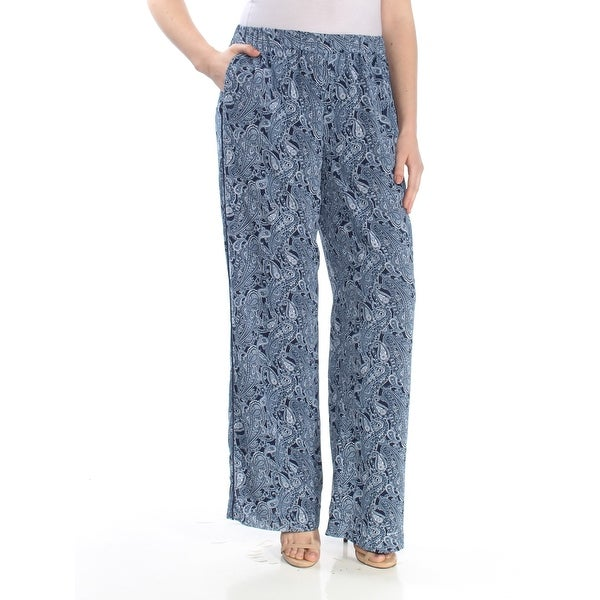 e41d5de1e5d40 Shop MICHAEL KORS Womens Blue Paisley Wear To Work Pants Size: M - On Sale  - Free Shipping On Orders Over $45 - Overstock - 27902462