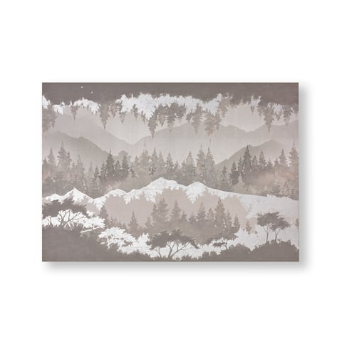 """Graham and Brown 104009 Wanderlust 28"""" x 40"""" Frameless Landscape Painting on Stretched Canvas - Grey"""
