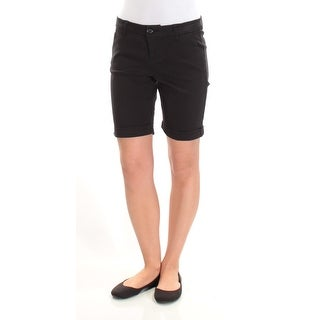 Womens Black Casual Bermuda Short Size 0