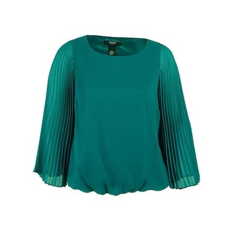Alfani Women's Pleated Sleeve Blouse