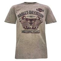 Harley-Davidson Men's Heat of Fusion Short Sleeve Tee, Dark Sand Wash 5J0M-HF5T