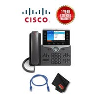 Cisco CP-8831-K9= Unified IP Conference Phone Base and Control Unit with Spare CAT5 Ethernet Cable + Extended Warranty