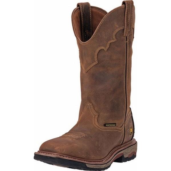 "Dan Post Western Boots Mens 8"" Collared Stockman Saddle Tan"