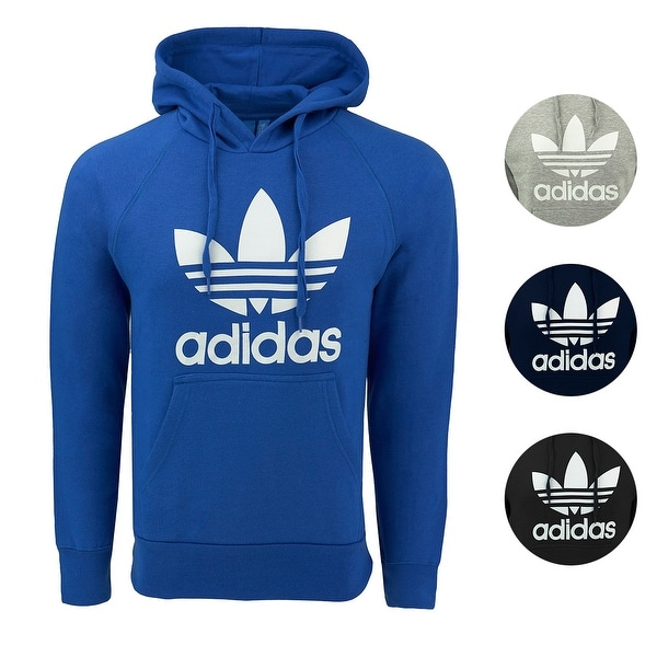 f67db9c60be9 Shop adidas Men s Originals Trefoil Hooded Sweatshirt - Free ...