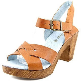 Eric Michael Philly Women Open Toe Leather Tan Sandals