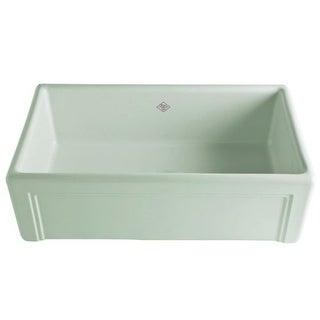 "Rohl RC3017 Shaws 30"" Single Basin Farmhouse Fireclay Kitchen Sink with Decorative Casement"