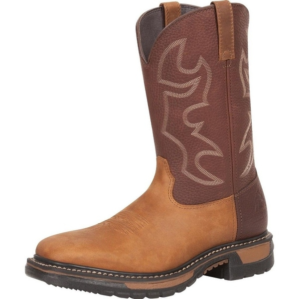 "Rocky Western Boots Men 11"" Original Ride Leather Bridle Brown"