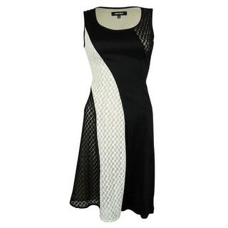 Nine West Women's Lace Illusion Dress