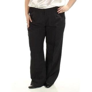 LE SUIT Womens Ivory Wide Leg Wear To Work Pant Suit Plus Size: 18