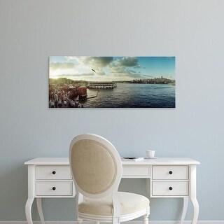 Easy Art Prints Panoramic Images's 'Ferries along the Bosphorus, Istanbul, Turkey' Premium Canvas Art