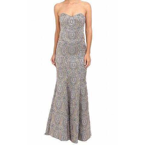 d1bdee52779 Nicole Miller Purple Womens Size 0 Dakota Embroidered Gown Dress