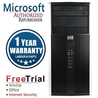 Refurbished HP Compaq 6200 Pro Tower Intel Core I5 2400 3.1G 8G DDR3 1TB DVDRW WIN 10 Pro 64 1 Year Warranty - Black