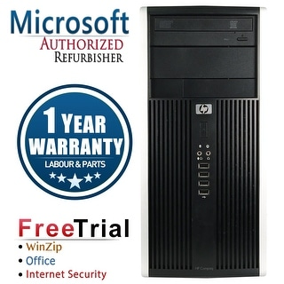 Refurbished HP ELITE 8200 Tower Intel Core i5 2400 3.1G 8G DDR3 240G SSD+2TB DVD Windows 10 Pro 1 Year Warranty - Black