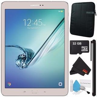 "Samsung 32GB Galaxy Tab S2 9.7"" Wi-Fi Tablet (Gold) SM-T813NZDEXAR + Universal Stylus for Tablets + 32GB Class 10 Card Bundle"