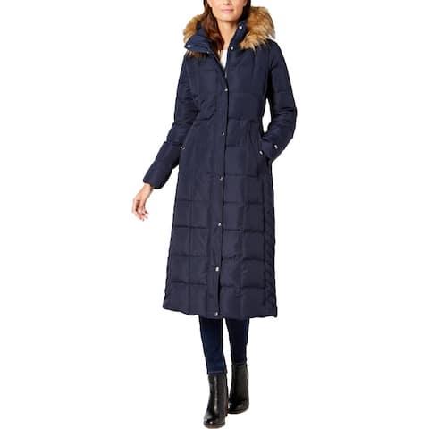 Tommy Hilfiger Womens Parka Coat Winter Faux Fur