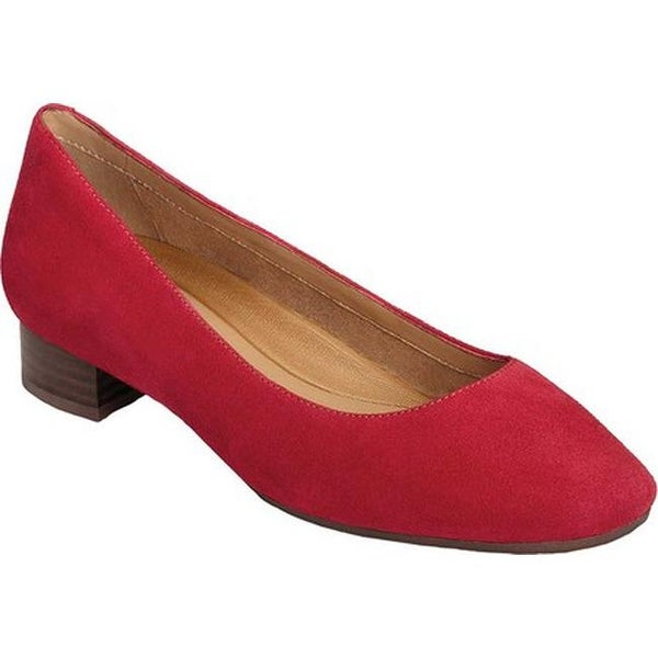 c8a29a2ef5 Shop Aerosoles Women's Subway Pump Mid Red Leather - Free Shipping ...