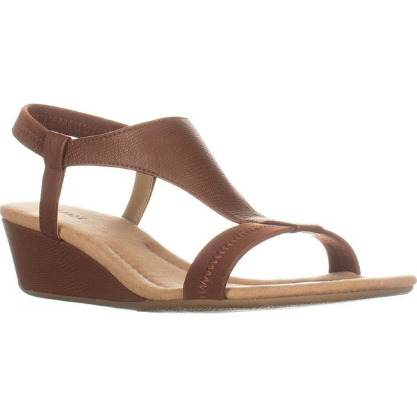 A35 Vancanza Flat Slip On Sandals, Cognac, 9 W US, Cognac - 9 w us