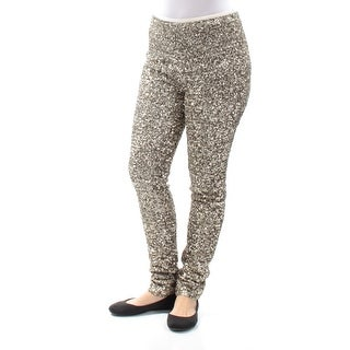 RALPH LAUREN $398 Womens New 1138 Gold Sequined Party Pants 6 B+B