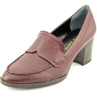 Franco Sarto L-Adobe Round Toe Leather Heels