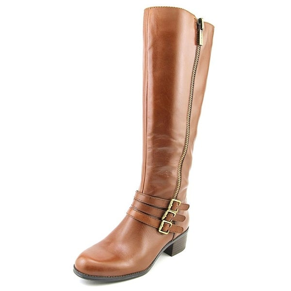 Bandolino Carsononi Wide Calf Women Round Toe Leather Knee High Boot