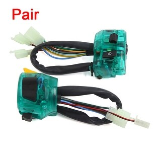Pair Blue Starting Headlight Signal Light Combination Control Switch For