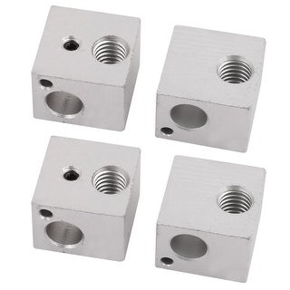 4pcs 16mmx16mmx12mm 3D Printer Aluminum Heater Block for MK8 MK7 Maker Bot