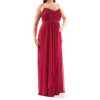 Womens Red Spaghetti Strap Full Length Sheath Prom Dress Size: 12