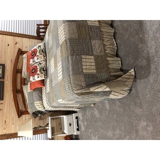 Farmhouse Bedding Miller Farm Quilt Cotton Patchwork Chambray
