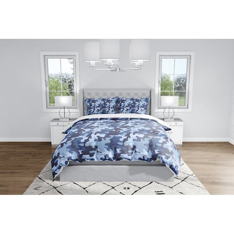CAMO FLOW NAVY Duvet Cover By Kavka Designs