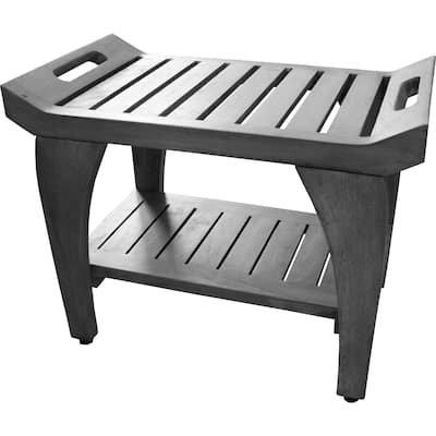 CoastalVogue Tranquility 24in Wide ShowerBench GR156 in a Gray Finish