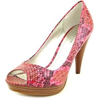 Style & Co Celine Women Round Toe Leather Pink Heels