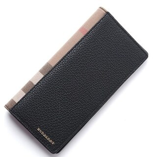 Burberry Uni Black Leather Cavendish Travel Wallet