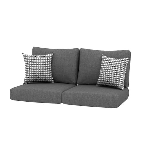 Loveseat Outdoor 24x24 Replacement Cushions with Pillows