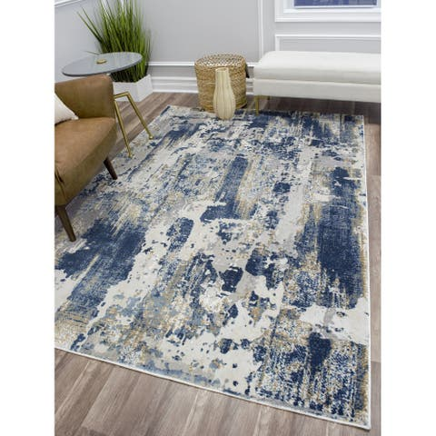 Auden Modern Abstract Rug by CosmoLiving by Cosmopolitan