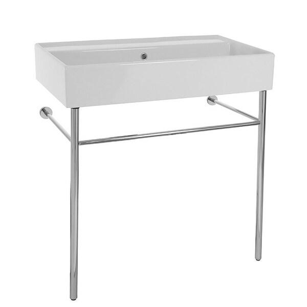"Nameeks 8031/R-80-CON Scarabeo 31-1/2"" Ceramic Bathroom Sink For Console Installation"
