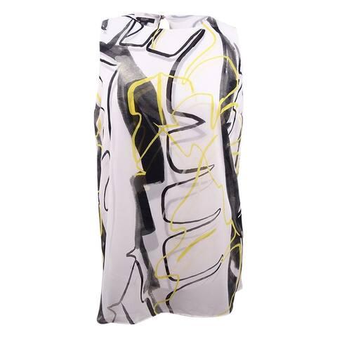 Alfani Women's Plus Size Printed Tunic - Art Abstract