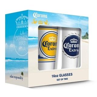 Corona 190443000665 Extra Labels Pub Glass - Set of 2