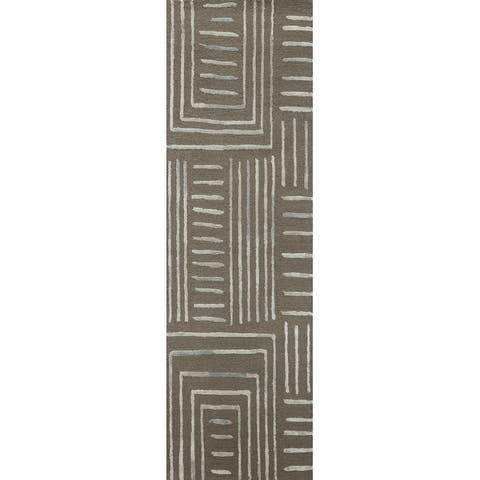 Alexander Home Reverie Geometric Contemporary Area Rug