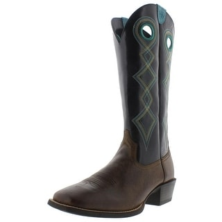 Ariat Mens Sport Buckaroo Embroidered Leather Cowboy, Western Boots