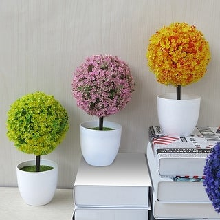 Link to Artificial Potted Ornament Topiary Ball Shape Bonsai Fake Plant Home Decoration Similar Items in Decorative Accessories