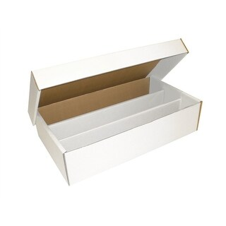 Lot of 10 Max Protection Super Shoe 3000ct 3-Row Cardboard Trading Card Storage Boxes
