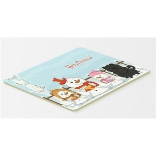 Carolines Treasures BB2474CMT Merry Christmas Carolers Chow Chow Black Kitchen or Bath Mat 20 x 30