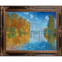 Autumn at Argenteuil Claude Monet Framed Hand Painted Oil on Canvas